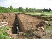 Копка выгребной ямы для туалета или погреба. Рытьё траншей