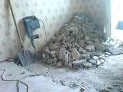 Демонтаж стяжки пола (бетонного пола),  включая вывоз мусора