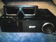 продаю 3d проектор acer x1261p с 3d очками