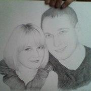 Рисую портрет по фото. карандаш
