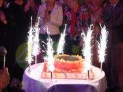 Пиротехнические фонтаны в торт