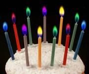 Свечи,  горящие цветным пламенем