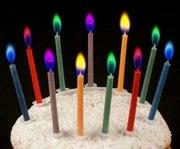 Свечи для праздника с цветным пламенем