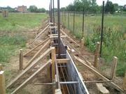 Строительство фундаментов под заборы,  гаражи и хоз блоки.