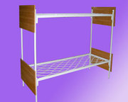 Металлические одноярусные кровати. Трехъярусные железные кровати. Опт.