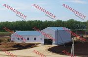 Строительство зернохранилищ.