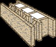Арболитовый блок БОИЗОЛИТ- 1Р (Рядовой)