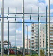 Забор металлический из сварной сетки 3Д (3D)