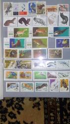 Марки СССР - ; животные,  растения,  рыбы,  космонавтика,  живопись